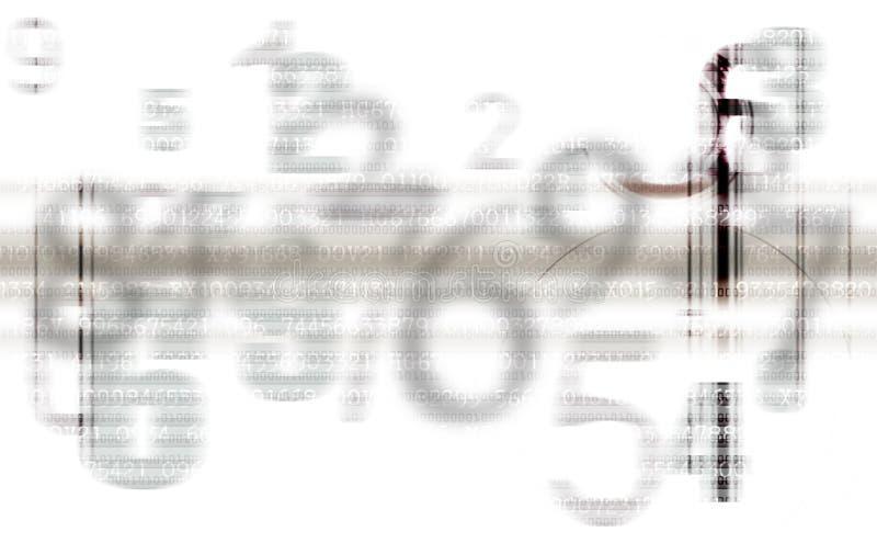 Abstracte Grijze aantallenachtergrond stock illustratie