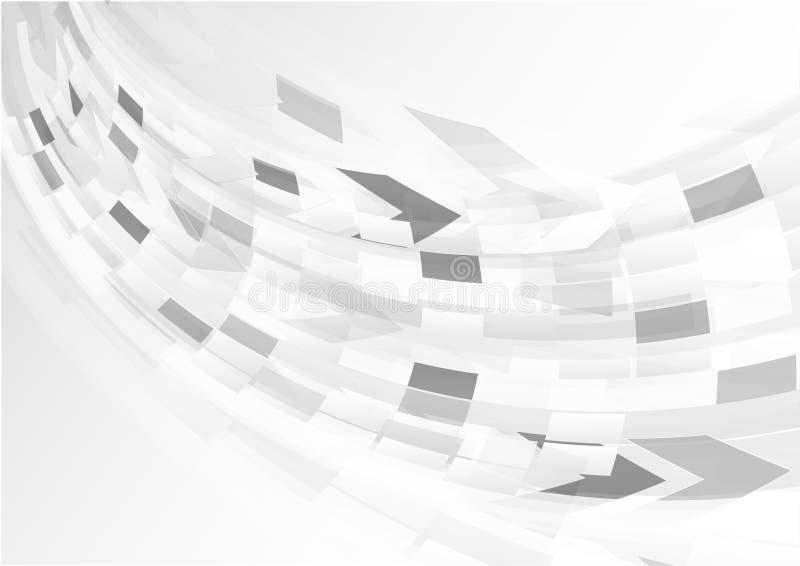 Abstracte grijze achtergrond met krommelicht stock illustratie