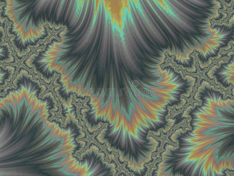 Abstracte grijze bloemen 3d fractal, geeft ontwerp en vermaak terug Achtergrond voor brochure, website, vliegerontwerp royalty-vrije illustratie