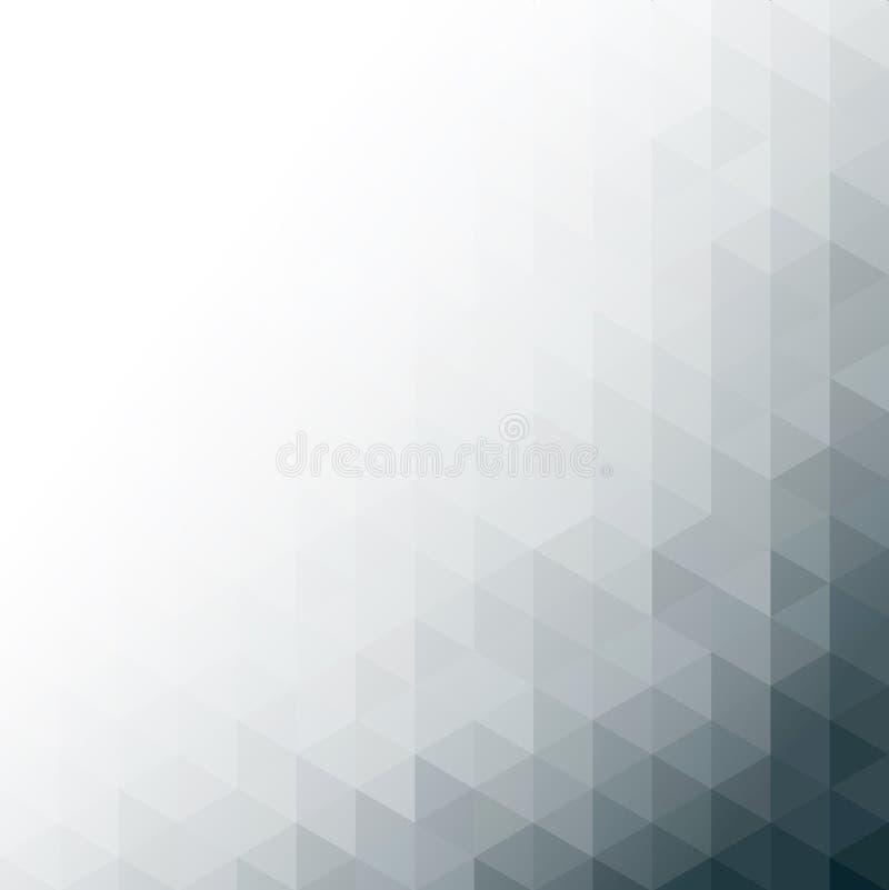 Abstracte grijze geometrische technologieachtergrond stock illustratie