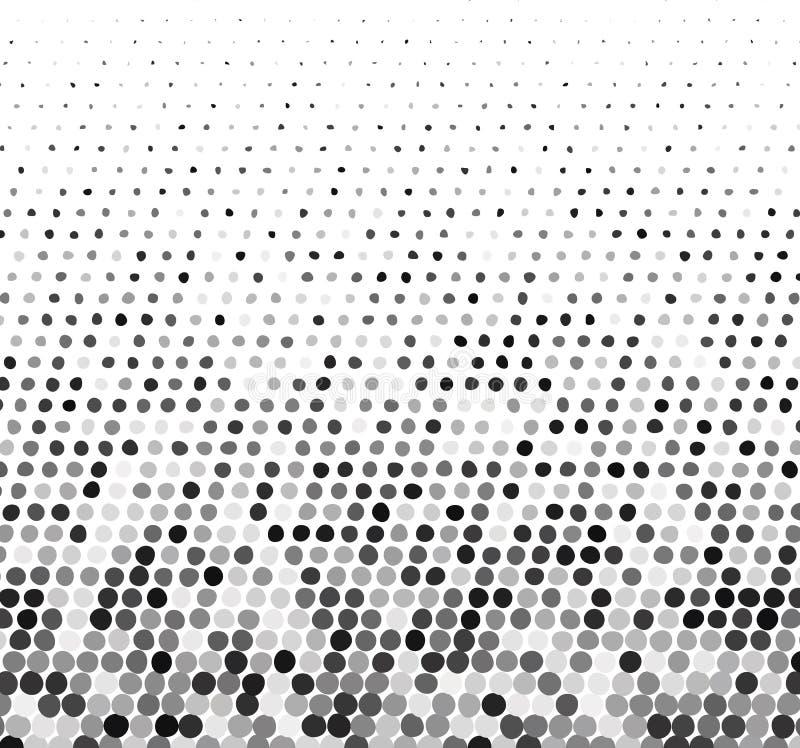 Abstracte grijze halftone achtergrond met gebogen punten vector illustratie