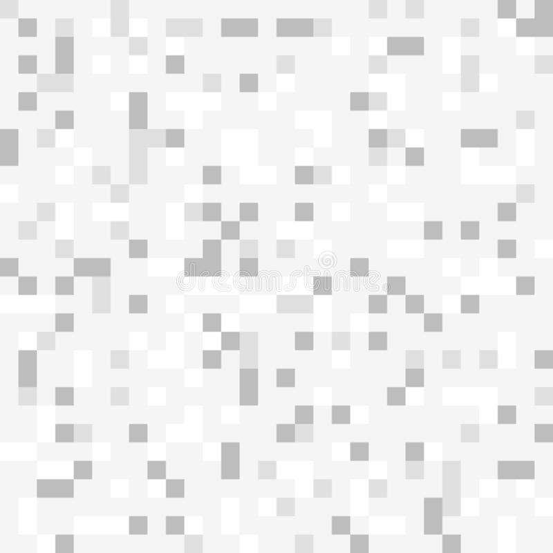 Abstracte grijze pixelachtergrond stock illustratie