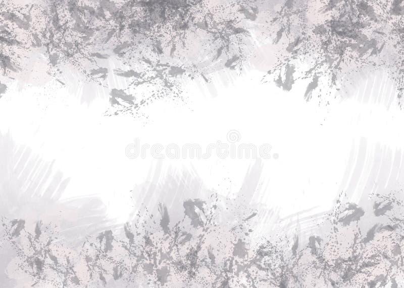 Abstracte grijze vlekken op witte achtergrond royalty-vrije illustratie