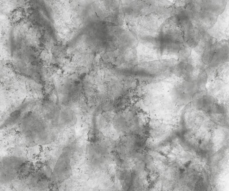 Abstracte grijze waterverfachtergrond royalty-vrije stock afbeeldingen