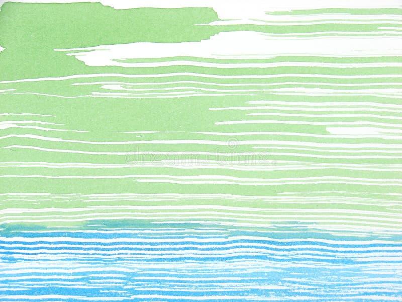 Abstracte groen en blauwe waterverfachtergrond vector illustratie