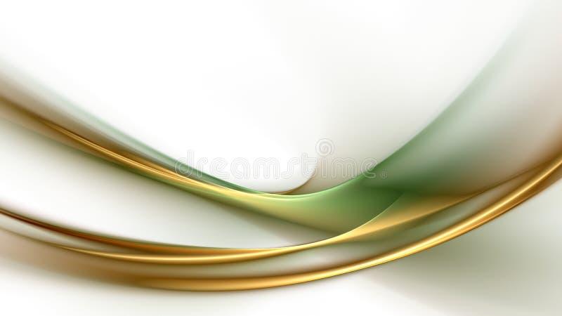 Abstracte groen-gouden achtergrond vector illustratie