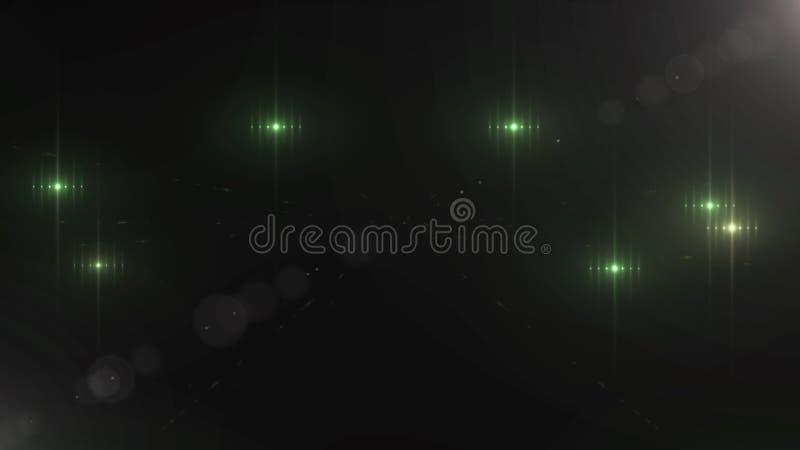 Abstracte groen schittert deeltjesachtergrond De achtergrond van de het productontwerpsjabloon van de luxepremie Magische lichte  royalty-vrije illustratie