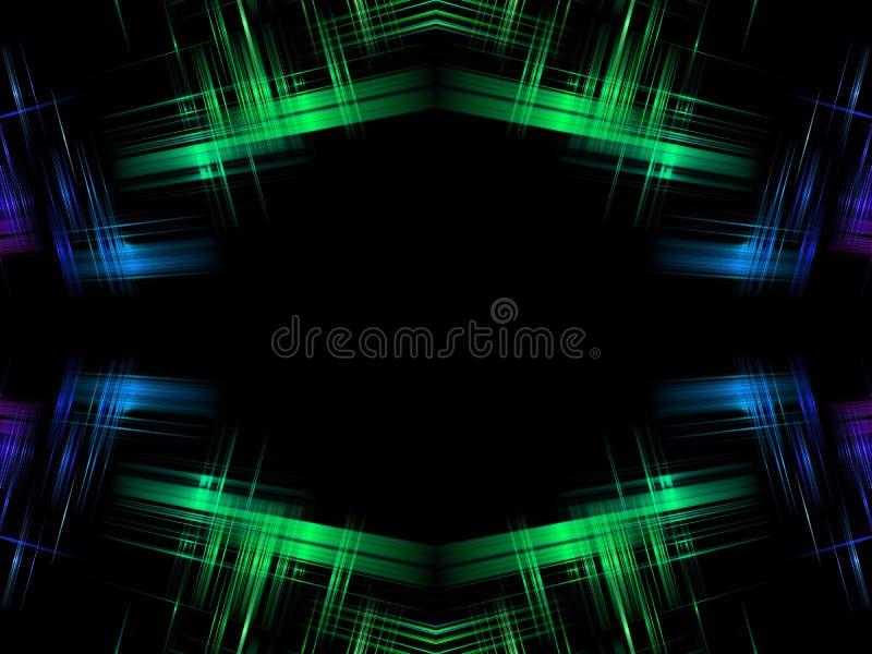 Abstracte Groenachtig blauw stock illustratie