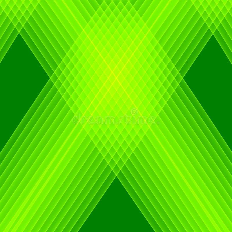 Abstracte Groene Achtergrond Heldergroene lijnen Geometrisch patroon in groene kleuren vector illustratie