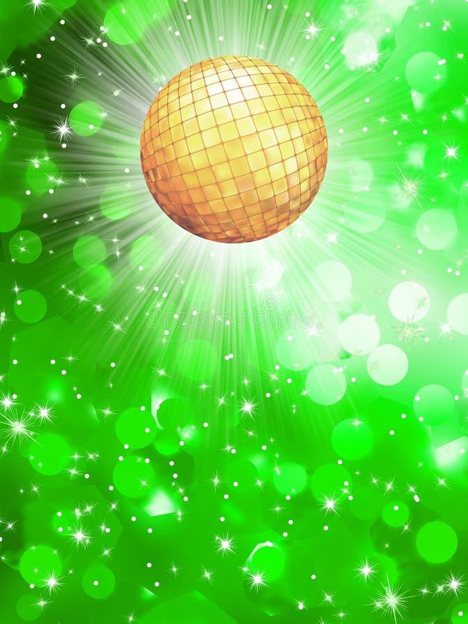 Samenvatting groen met discobal. EPS 10 royalty-vrije illustratie