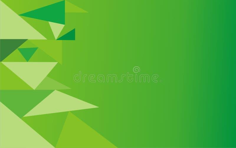 Abstracte groene achtergrond met driehoek royalty-vrije stock afbeelding