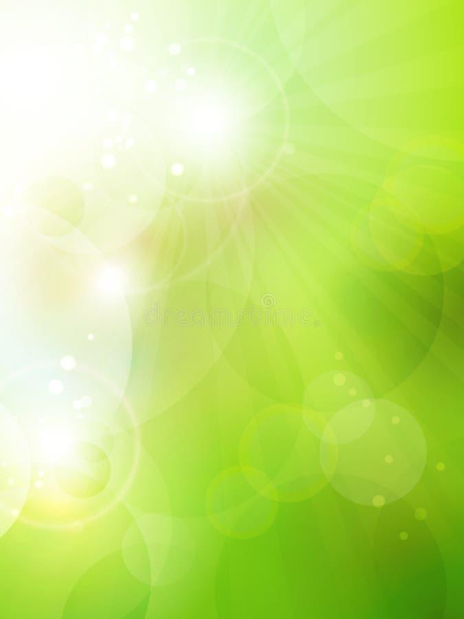 Abstracte groene bokehachtergrond royalty-vrije illustratie