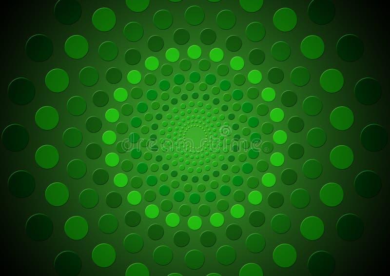 Abstracte groene in de schaduw gestelde cirkels stock foto