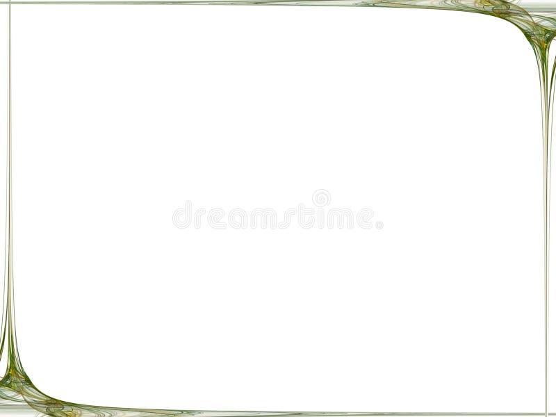 Abstracte groene fractal achtergrond stock illustratie