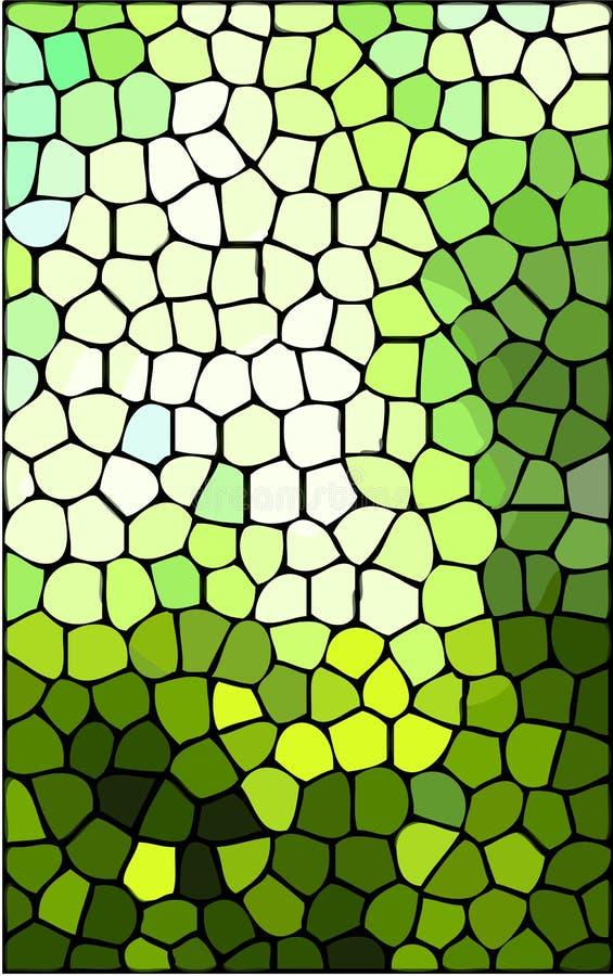 Abstracte groene gebrandschilderd glasachtergrond royalty-vrije illustratie