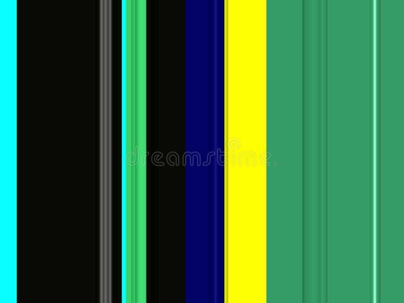 Abstracte groene gele blauwe donkere kleuren, lijnen, fonkelende achtergrond, grafiek, abstracte achtergrond en textuur vector illustratie