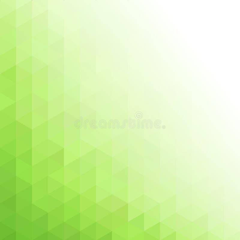 Abstracte groene geometrische technologieachtergrond royalty-vrije illustratie
