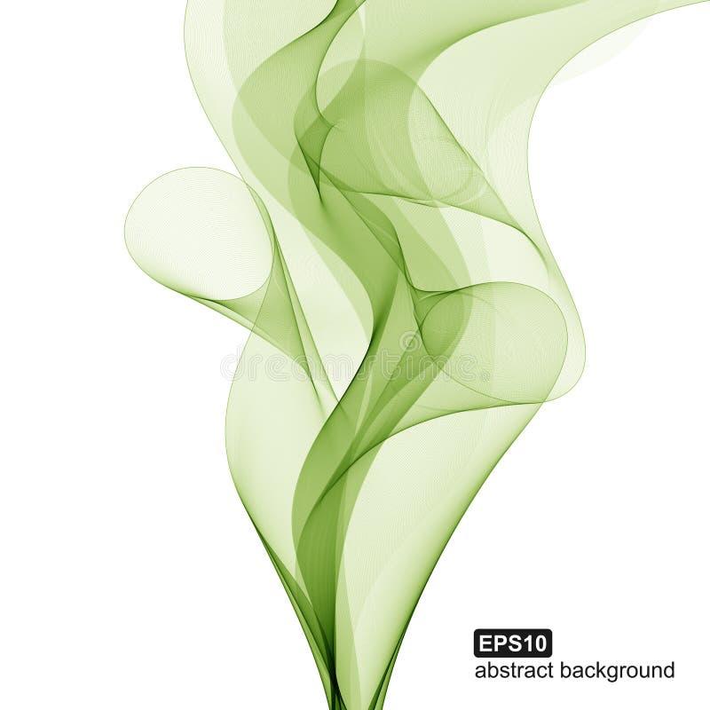 Abstracte groene golfachtergrond royalty-vrije illustratie