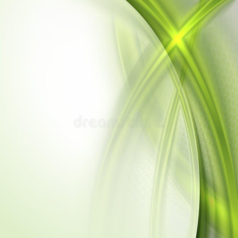 Download Abstracte Groene Golvende Achtergrond Vector Illustratie - Illustratie bestaande uit toekomst, glanzend: 39118489