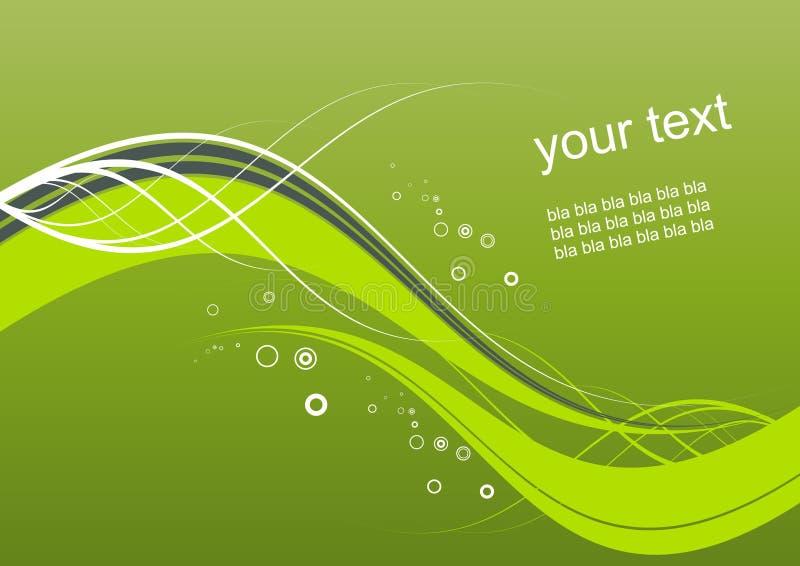 Abstracte groene golvende achtergrond stock illustratie