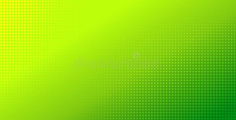 Abstracte groene gradiënt halftone achtergrond Natuurlijke kleuren vectorachtergrond vector illustratie