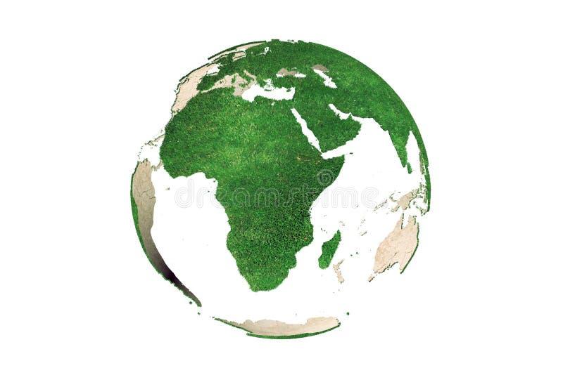Abstracte groene grasrijke Aardebol (Afrika) vector illustratie