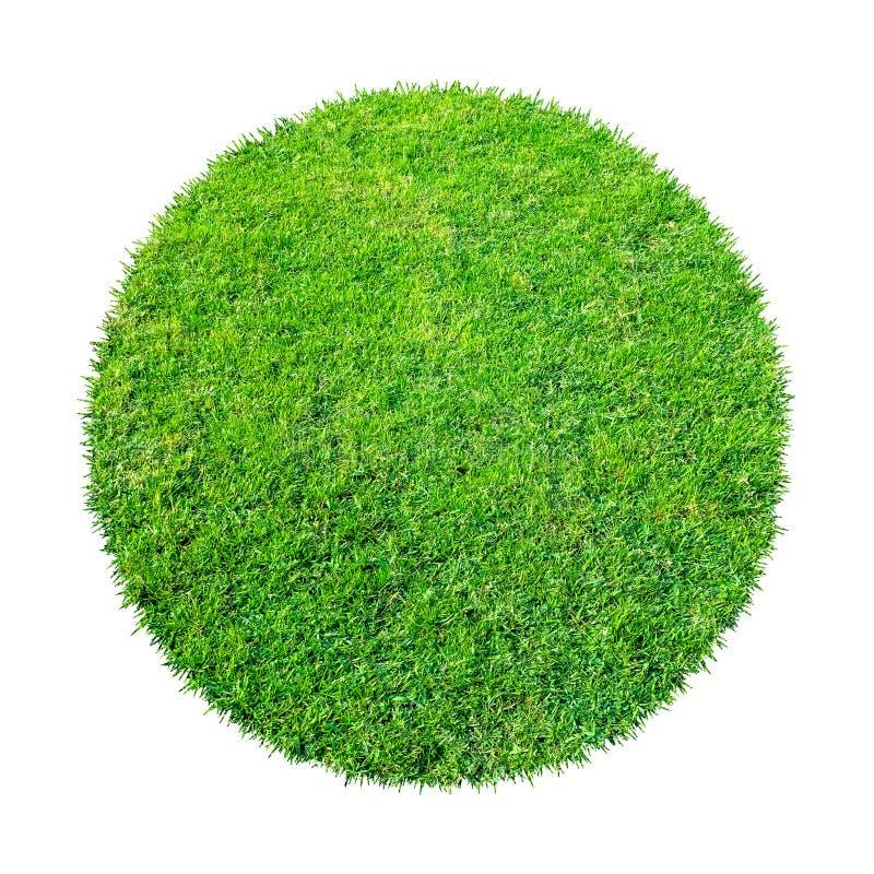 Abstracte groene grastextuur voor achtergrond Patroon van het cirkel het groene die gras op een witte achtergrond wordt geïsoleer stock afbeelding