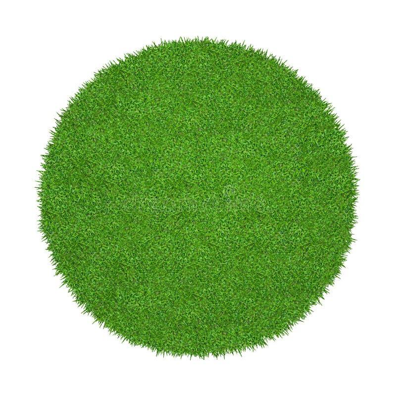 Abstracte groene grastextuur voor achtergrond Patroon van het cirkel het groene die gras op een witte achtergrond wordt geïsoleer stock afbeeldingen