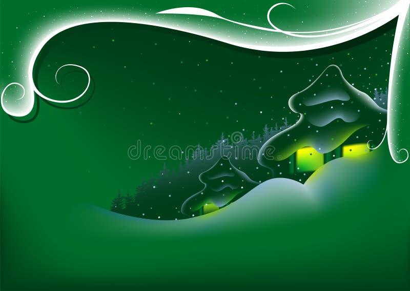 Abstracte Groene Kerstmis vector illustratie