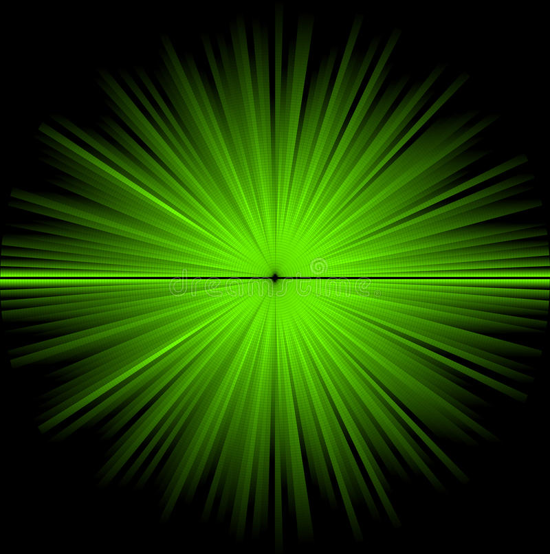 Abstracte groene kosmische achtergrond