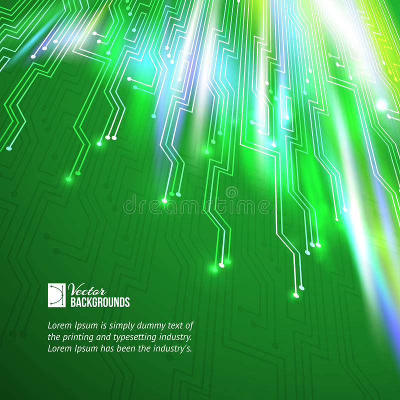 Abstracte groene lichtenachtergrond. royalty-vrije illustratie