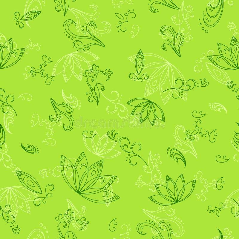 Abstracte groene naadloze achtergrond vector illustratie