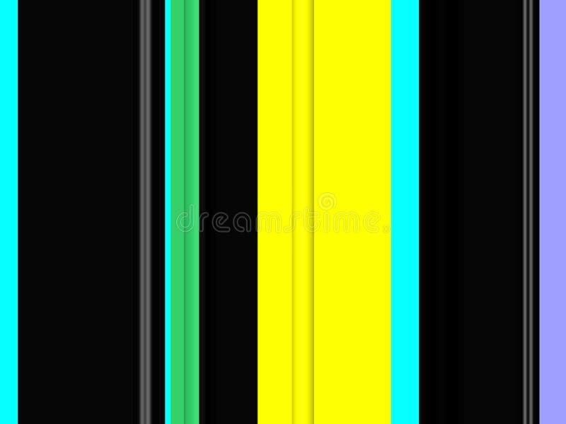 Abstracte groene purpere gele blauwe donkere kleuren, lijnen, fonkelende achtergrond, grafiek, abstracte achtergrond en textuur vector illustratie