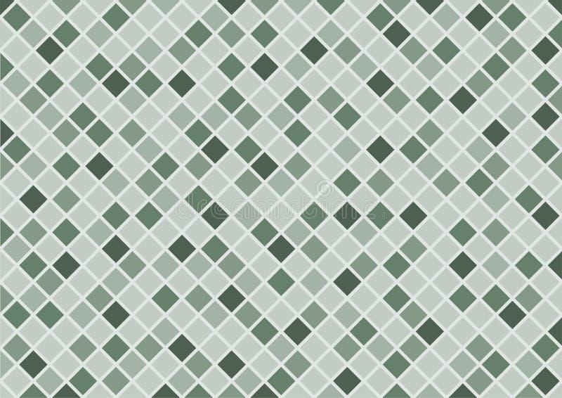 Abstracte groene rechthoekachtergrond stock afbeelding