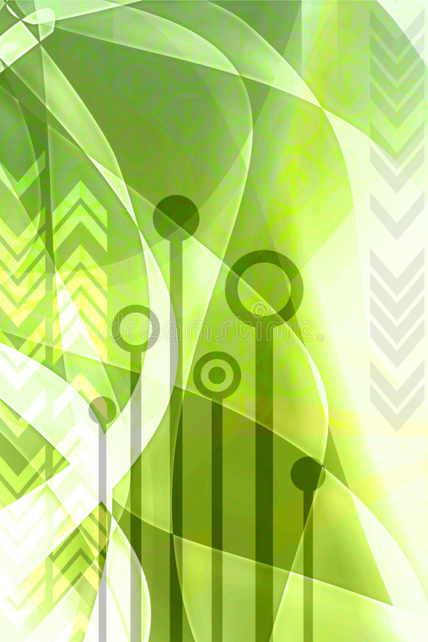Abstracte groene techno   stock illustratie