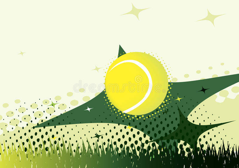 Abstracte groene tennisachtergrond stock illustratie