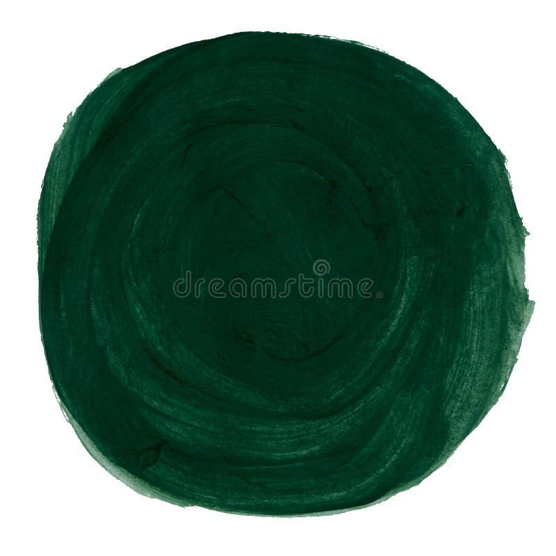 Abstracte groene waterverf geschilderde cirkel vector illustratie