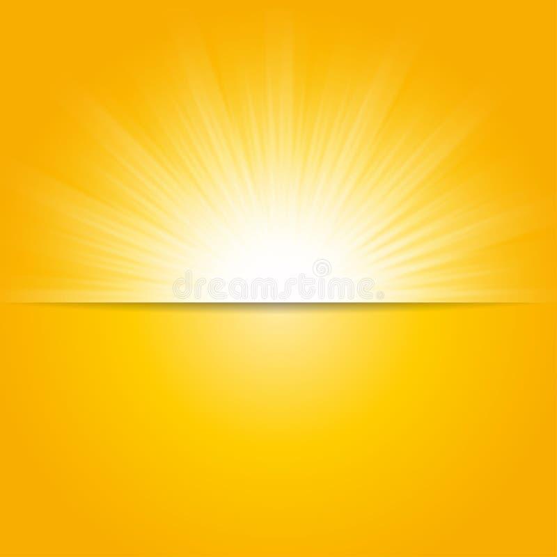 Abstracte groene zonnestralen, de milieuachtergrond van de conceptenlente royalty-vrije stock foto