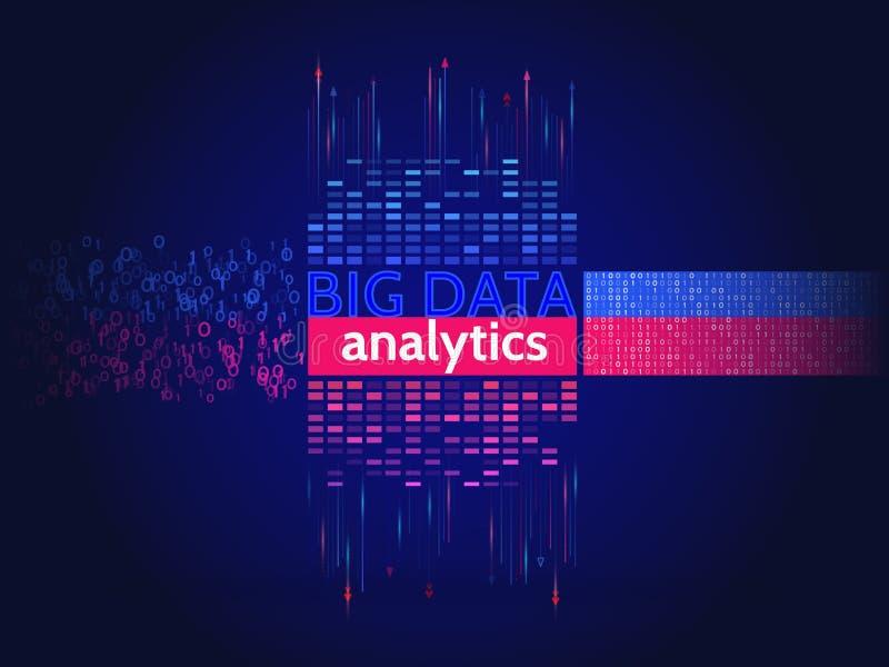 Abstracte grote gegevens sorterende informatie Analyse van informatie stock illustratie