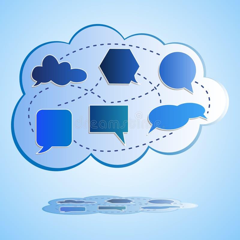 Abstracte grote wolk gegevensverwerking stock illustratie