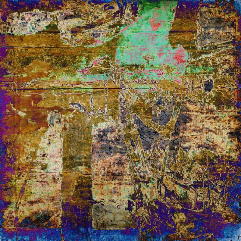 Abstracte grunge grafische achtergrond van de kunst vector illustratie