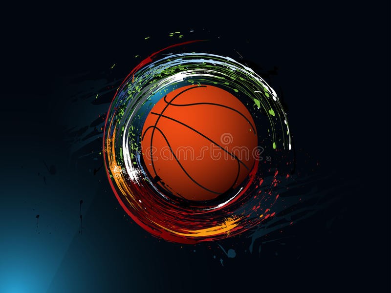 Abstracte grungeachtergrond, Basketbal stock illustratie