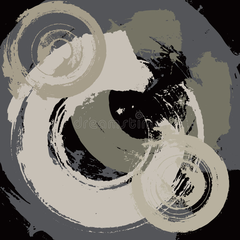 Abstracte grungeachtergrond met radiale slagen stock illustratie