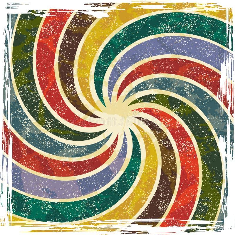 Abstracte grungeachtergrond, vectorillustratie. vector illustratie