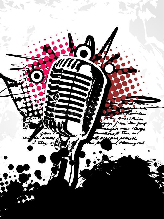 Abstracte grungy mic stock illustratie