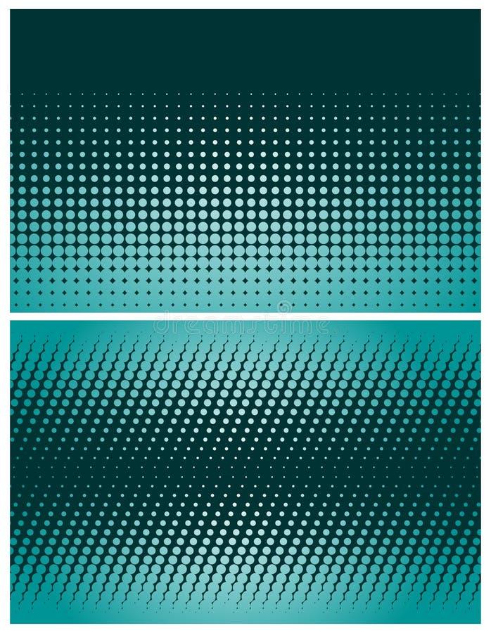 Abstracte halftone achtergronden royalty-vrije illustratie