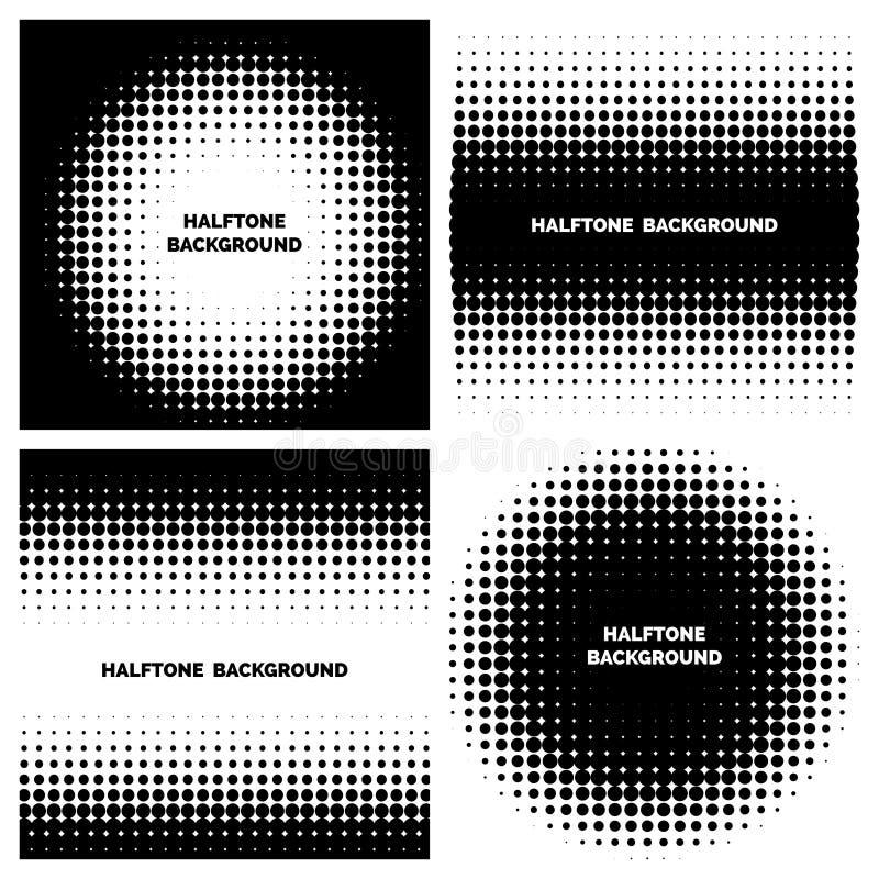 Abstracte halftone achtergronden met tekst royalty-vrije illustratie