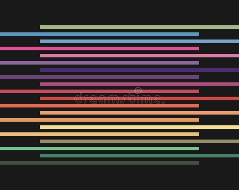 Abstracte halftone lijnen kleurrijke achtergrond stock illustratie