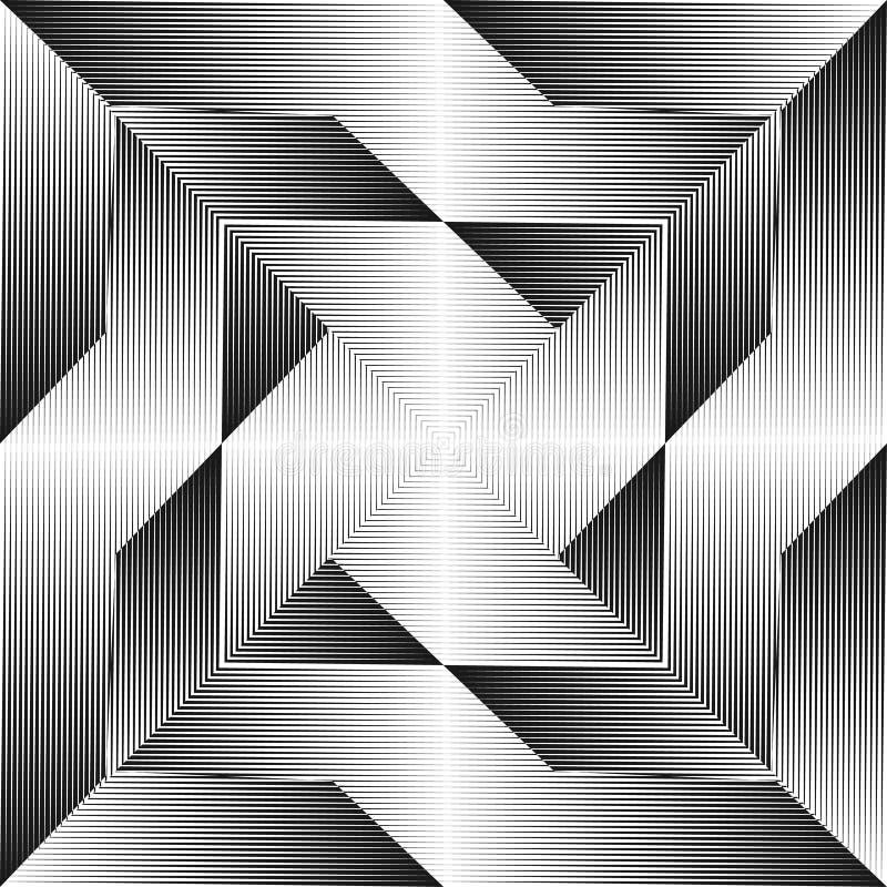 Abstracte halftone lijnenachtergrond stock illustratie