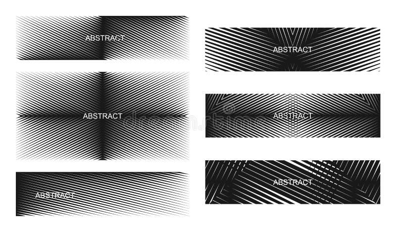 Abstracte halftone lijnenbanners royalty-vrije illustratie